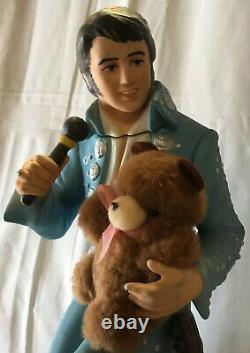 Elvis Presley McCormick Bottle Decanter Teddy Bear Large 750ml Empty Very Rare