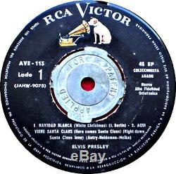 Elvis Presley Merry Christmas Ep 4 Songs Original Mega Rare Uruguay