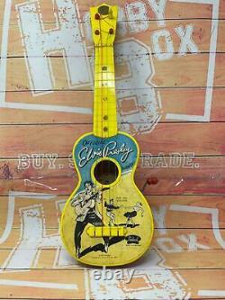 Elvis Presley Miniature Guitar 1956 SELCOL Musical Box VINTAGE RARE WORKING