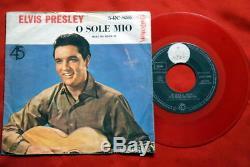 Elvis Presley O Sole Mio Mega Rare Red Vinyl Exyu 7ps