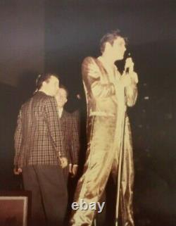 Elvis Presley Original 8x10 Vintage 1956 In Toronto Unseen Gold Suit Ultra Rare