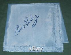Elvis Presley Original Concert Scarf 1970's Blue Original 34 x 34 RARE