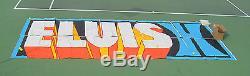 Elvis Presley Original Las Vegas Hilton Banner HUGE RARE WOW