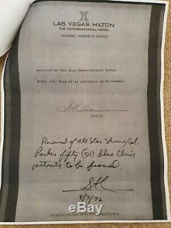Elvis Presley Original Print Colonel Tom Parker Loxi Sibley Hilton Hotel Rare