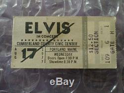 Elvis Presley Original Rare Concert Ticket Stub August 17th 1977 Portland Maine