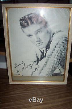Elvis Presley Original Rare Photo With Signed Autograph From Estate Sale Framed