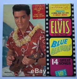 Elvis Presley- Original USA Blue Hawaii With Rare Twist Sticker