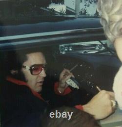 Elvis Presley Original Vintage Kodak Photo Candid Close Up Large 5 X 5 Rare