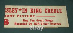 Elvis Presley Paramount Promo Bumper Sticker King Creole Hal Wallis 1958 RARE