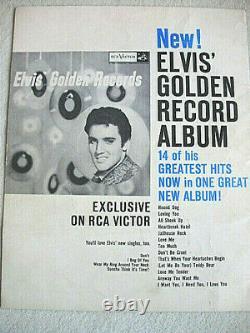 Elvis Presley, Photo Folio USA Letzte Seite Golden Record Album RARE