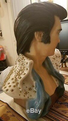 Elvis Presley RARE life size bust Vintage 1970s