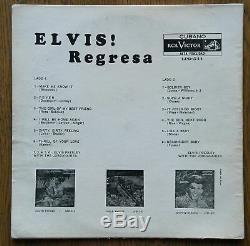Elvis Presley REGRESA WHITE label RCA LPD 544 Cuba GIGA RARE! EX
