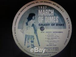 Elvis Presley Rare 1957 March Of Dimes Galaxy Of Stars Lp Ex-nm