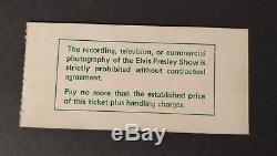 Elvis Presley Rare 1975 Concert Ticket Pontiac Stadium, Michigan. NYE