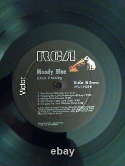 Elvis Presley Rare Black Vinyl Moody Blue Lp 1977 Original Near Mint Vinyl USA