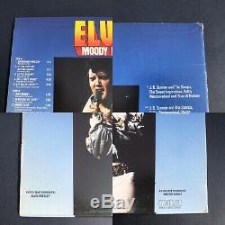 Elvis Presley Rare Experimental Yellow Vinyl Moody Blue Lp 1977 Nice! 33 45