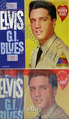Elvis Presley Rare G. I. Blues Mono Heart Sticker LP