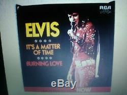 Elvis Presley Rare Gray Label Burning Love/its A Matter Of Time 45 Ex