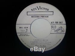 Elvis Presley Rare King Creole White Label Promo 45 Ep Near Mint 1958