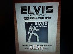 Elvis Presley Rare Madison Square Garden Promo 2 Lps&promo Photo 1972 Nmint