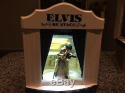 Elvis Presley-Rare On Stage Mini Decanter BlueCurtains Stage #1105 Of 2500