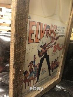 Elvis Presley Rare Original Movie Poster Great Color Barn Find Spinout 22 X 14