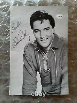 Elvis Presley Rare Signed Autograph Thanks Elvis Presley Fan Club Booklet 1974