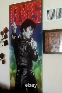 Elvis Presley Rare Vinyl Banner Sign From Memphis Street Elvis Blvd Gorgeous