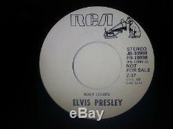Elvis Presley Rare Way Down/pledging My Love White Label Promo 45 Vinyl Ex-nm
