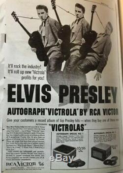 Elvis Presley Rca Victor 1956 Record Player / Rare 4 Speed Lp / 45 / 78 /