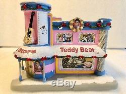 Elvis Presley Rock & Roll Hawthorne Holiday Village Teddy Bear Toy Store Rare