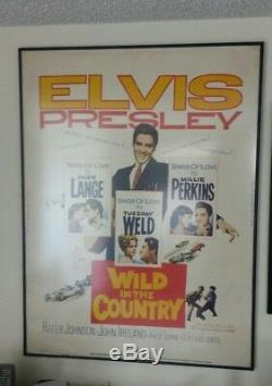 Elvis Presley SUPER RARE Wild In The Country 30x40 Movie Poster ROLLED