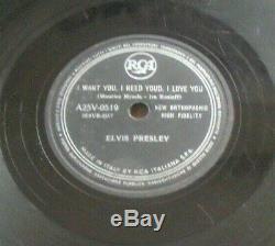 Elvis Presley Shake Rattle And Roll Rare 78 RPM 10 Italy Rca Italiana 1950's