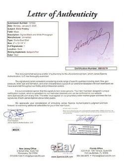 Elvis Presley Signed 8x10 Photo JSA LOA King Of Rock & Roll Musician RARE