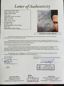 Elvis Presley Signed Autograph Litho Print Rare Jsa Authentic