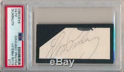 Elvis Presley Signed Autograph. Rare Auto, PSA