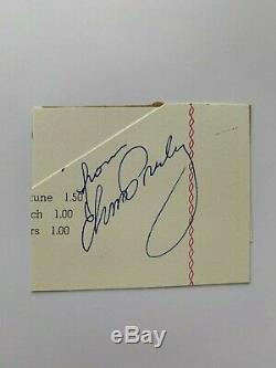 Elvis Presley Signed Autographed Cut Rare Bold Signature