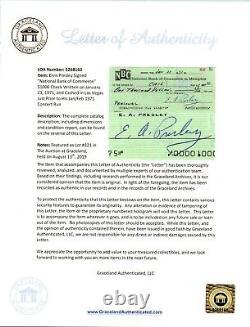 Elvis Presley Signed Cancelled Check Graceland Rare Variation LOA PSA/DNA MINT 9