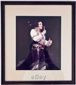 Elvis Presley Signed Framed 8 X10 Color Photo Very Rare