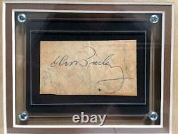 Elvis Presley Signed Paper Vintage Custom Framed Beckett BAS RARE Graceland