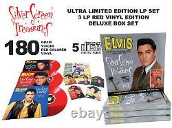 Elvis Presley Silver Screen Treasures vol. 1 3 LP / 5 CD box RED vinyl RARE