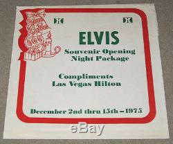 Elvis Presley Souvenir Opening Night Package Las Vegas Hilton 1975 RARE
