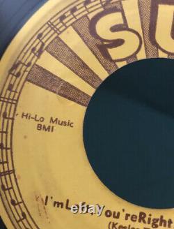 Elvis Presley Sun 217 Baby Lets Play House 45 Nice labels Original 1955 RARE