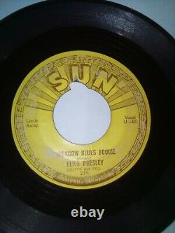 Elvis Presley Sun Records Milk Cow Blues Boogie / You're A Heartbreaker 45 RARE