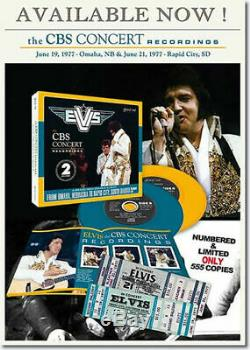 Elvis Presley The CBS Concert Recordings 2 CD set with concert tickets NEW RARE