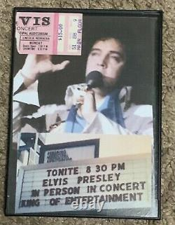 Elvis Presley Ticket Stub June 20th 1977 Lincoln Nebraska Ticket Stub Frame RARE