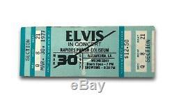 Elvis Presley Unused March 30, 1977 Concert Ticket Alexandria, La 3/30/77 Rare