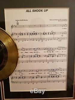 Elvis Presley rare collectible, RCA Gold Record All Shook Up Framed with Lyric