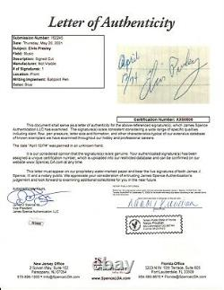 Elvis Presley signed Cut JSA LOA Rare Auto d. 1977 Jailhouse Rock Z667