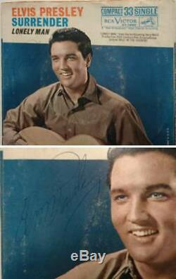 Elvis Presley signed Lonely Man 45 sleeve. Extremely rare! REAL LOA Epperson